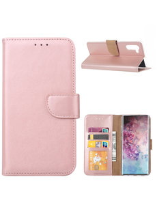Ntech Ntech Samsung Galaxy Note 10 Portemonnee / Booktype hoesje - Rose Goud