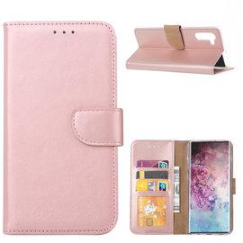 Ntech Ntech Hoesje voor - Samsung Galaxy Note10 Portemonnee / Booktype hoesje - Rose Goud