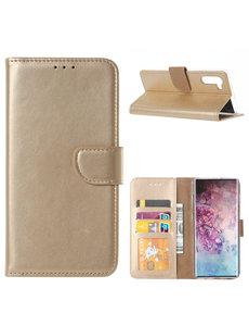 Ntech Ntech Portemonnee Hoesje voor Samsung Galaxy Note 10 - Goud