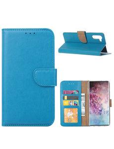 Ntech Ntech Samsung Galaxy Note 10 Portemonnee / Booktype Hoesje - Blauw