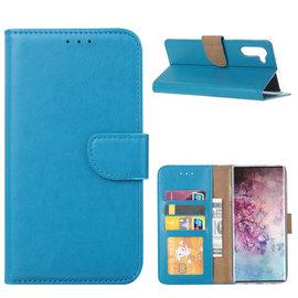 Ntech Ntech Hoesje voor - Samsung Galaxy Note10 Portemonnee / Booktype hoesje - Blauw
