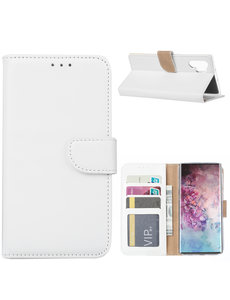 Ntech Ntech Portemonnee Hoesje voor Samsung Galaxy Note 10 Plus - Wit