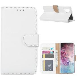 Ntech Ntech Hoesje voor - Samsung Galaxy Note10+ Portemonnee - Wit