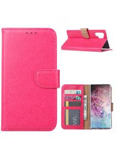 Ntech Ntech Portemonnee Hoesje voor Samsung Galaxy Note 10 Plus - Pink/Roze