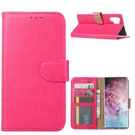Ntech Ntech Hoesje voor - Samsung Galaxy Note10+ Portemonnee / Booktype hoesje - Pink/Roze