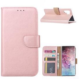 Ntech Ntech Hoesje voor - Samsung Galaxy Note10+ Portemonnee - Rose Goud