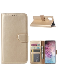 Ntech Ntech Portemonnee Hoesje voor Samsung Galaxy Note 10 Plus - Goud