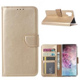 Ntech Ntech Hoesje voor - Samsung Galaxy Note10+ Portemonnee / Booktype hoesje - Goud