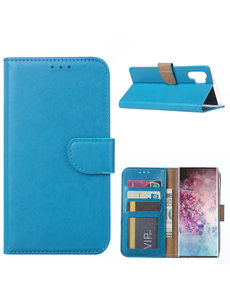 Ntech Ntech Portemonnee Hoesje voor Samsung Galaxy Note 10 Plus - Blauw