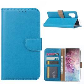 Ntech Ntech Hoesje voor - Samsung Galaxy Note10+ Portemonnee - Blauw