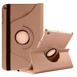 Ntech Ntech Samsung Galaxy Tab S5e SM-T720/T725 Draaibaar Hoesje 360 Rotating Multi stand Case - Goud