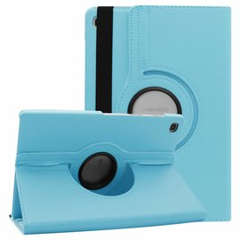 Ntech Ntech Samsung Galaxy Tab S5e SM-T720/T725 Draaibaar Hoesje 360 Rotating Multi stand Case - Turquoise