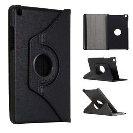 Ntech Ntech Samsung Galaxy Tab A 8.0 (2019) SM-T290/T295 Draaibaar Hoesje 360 Rotating Multi stand Case - Zwart