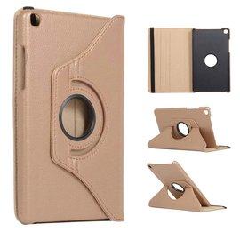 Ntech Ntech Samsung Galaxy Tab A 8.0 (2019) SM-T290/T295 Draaibaar Hoesje 360 Rotating Multi stand Case - Goud