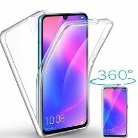 Ntech Ntech Samsung Galaxy A20e Dual TPU Case hoesje 360° Cover 2 in 1 Case ( Voor en Achter) Transparant
