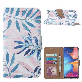 Ntech Ntech Blaadje Design Boek Hoesje Met Pasjesruimte & flapje Portemonnee - Samsung Galaxy A20e