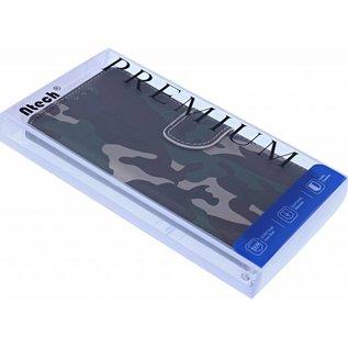 Ntech Ntech Camouflage Design Portemonnee Hoesje Met Pasjesruimte & Magneet flapje - Samsung Galaxy A10