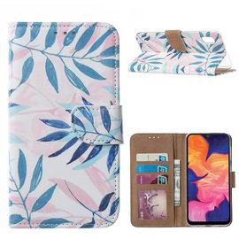 Ntech Ntech Blaadje Design Boek Hoesje Met Pasjesruimte & flapje Portemonnee - Samsung Galaxy A10