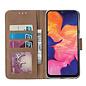 Ntech Ntech Luipaard Design Portemonnee Hoesje Met Pasjesruimte & Magneet flapje - Samsung Galaxy A10