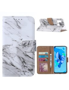 Ntech Ntech Marmer Design Boek / Portemonnee Hoesje - Huawei P20 lite (2019)