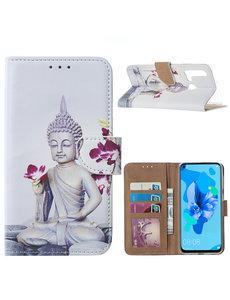 Ntech Ntech Boeddha & Bloem Portemonnee Hoesje - Huawei P20 lite (2019)