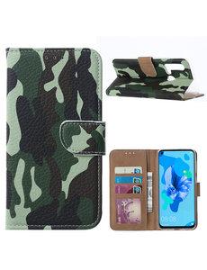 Ntech Ntech Camouflage Design Portemonnee Hoesje - Huawei P20 lite (2019)