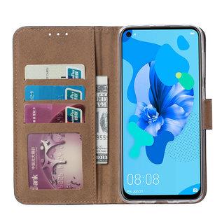 Ntech Ntech Luipaard Design Boek/Portemonnee Hoesje Met Pasjesruimte & flapje - Huawei P20 lite (2019)