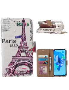 Ntech Ntech Parijs Design Portemonnee Hoesje - Huawei P20 lite (2019)