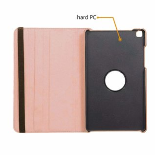 Ntech Ntech Samsung Galaxy Tab A 8.0 (2019) SM-T290/T295 Draaibaar Hoesje 360 Rotating Multi stand Case - Rose Goud