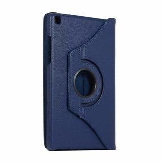 Ntech Ntech Samsung Galaxy Tab A 8.0 (2019) SM-T290/T295 Draaibaar Hoesje 360 Rotating Multi stand Case - Donker Blauw