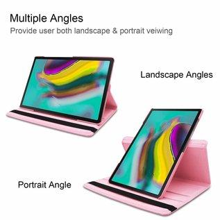 Ntech Ntech Samsung Galaxy Tab S5e SM-T720/T725 Draaibaar Hoesje 360 Rotating Multi stand Case - Licht Roze