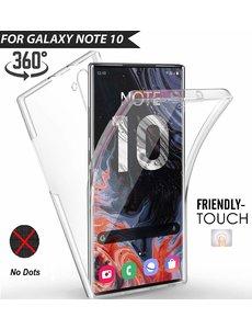 Ntech Ntech 360° Hoesje 2 in 1 Case - Samsung Galaxy Note 10 Transparant