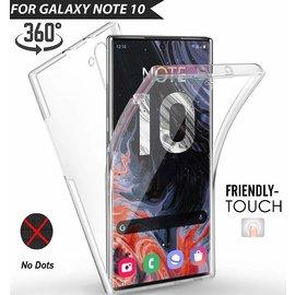 Ntech Ntech Samsung Galaxy Note10 Dual TPU Case hoesje 360° Cover 2 in 1 Case ( Voor en Achter) Transparant
