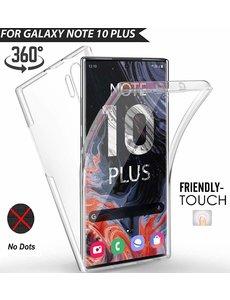Ntech Ntech 360° Hoesje 2 in 1 Case - Samsung Galaxy Note 10 Plus Transparant