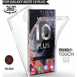 Ntech Ntech Samsung Galaxy Note10+ Dual TPU Case hoesje 360° Cover 2 in 1 Case ( Voor en Achter) Transparant