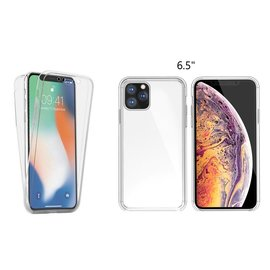 Ntech Ntech 360° Hoesje 2 in 1 Case - Apple iPhone Xi Max 2019 Transparant