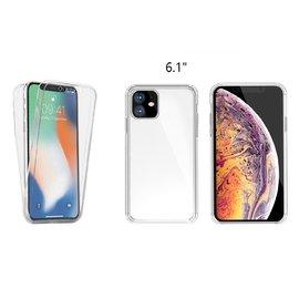 Ntech Ntech 360° Hoesje 2 in 1 Case - Apple iPhone Xi R 2019 Transparant