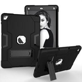 Ntech Ntech Hoesje - Apple iPad Pro 9.7 / Air 2 Built in Kickstand Armor - Zwart