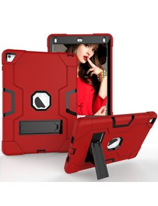 Ntech Ntech Hoesje - Apple iPad Pro 9.7 / Air 2 Built in Kickstand Armor - Rood