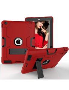 Ntech Ntech Hoesje - Apple iPad 2 / 3 / 4 Built in Kickstand Armor - Rood