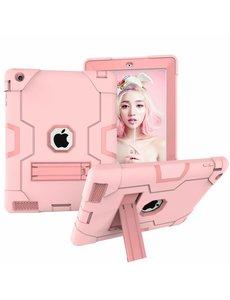 Ntech Ntech Hoesje - Apple iPad 2 / 3 / 4 Built in Kickstand Armor - Rose Goud