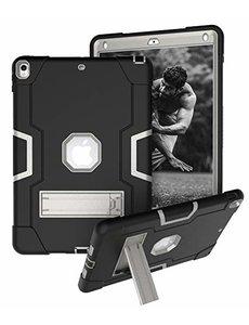 Ntech Ntech Hoesje - Apple iPad Air 10.5 (2019) Built in Kickstand Armor - Zwart