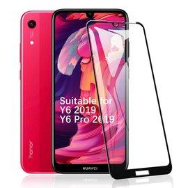 Ntech Ntech Huawei Y6 2019 Full Cover Glass Screen Protector - Zwart
