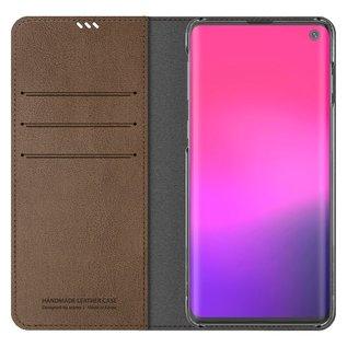 Araree Samsung Galaxy S10 Araree Mustang Diary Portemonnee Hoesje - Bruin