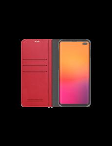 Araree Samsung Galaxy S10+ Araree Mustang Diary Portemonnee Hoesje - Rood