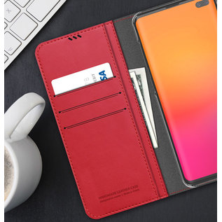 Araree Samsung Galaxy S10+ Araree Mustang Diary Portemonnee Hoesje - Rood