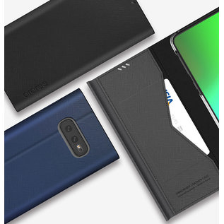 Araree Samsung Galaxy S10e Araree Bonnet Stand Portemonnee Flip Hoesje - Zwart