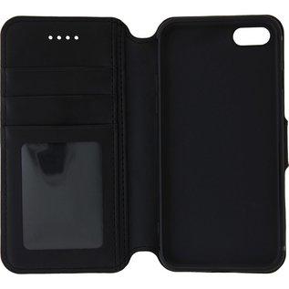 Ntech Ntech Samsung Galaxy A40 Portemonnee Hoesje Furlo Design - Zwart