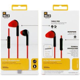 BeHello BeHello Oordopjes met afstandsbediening 3.5mm - Rood/Zwart