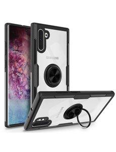 Ntech Ntech Samsung Galaxy Note 10 Luxe TPU Magnetisch Ring houder - Zwart